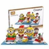 Cute Minion/Minions/Despicable Me Series Christmas Party Loz Diamond Block [Nanoblock Compatible]