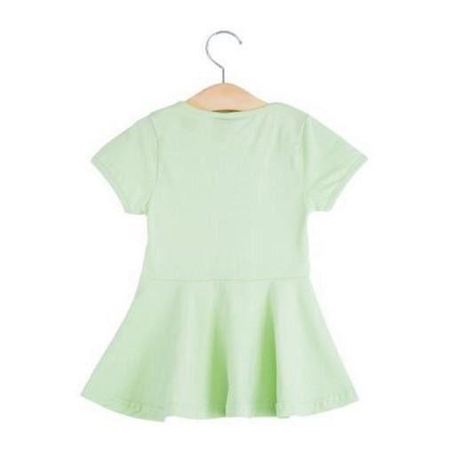 f5603d0a17071 cute soft cotton material round collar babies girls flounced dress
