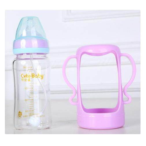 CUTEBABY CRYSTAL GLASS BOTTLE - 240ML blue purple