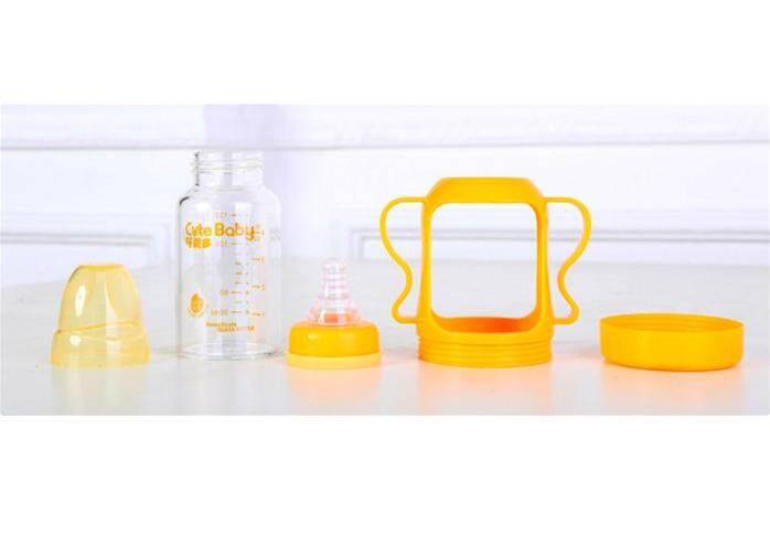 CUTEBABY CRYSTAL GLASS BOTTLE - 240MLorange