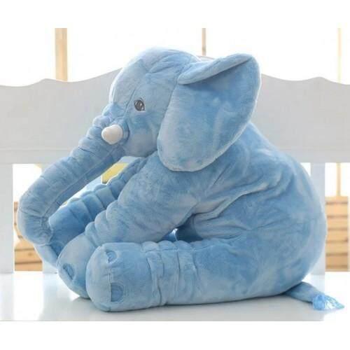 Cutie Elephant Plush Toy + Blanket Blue