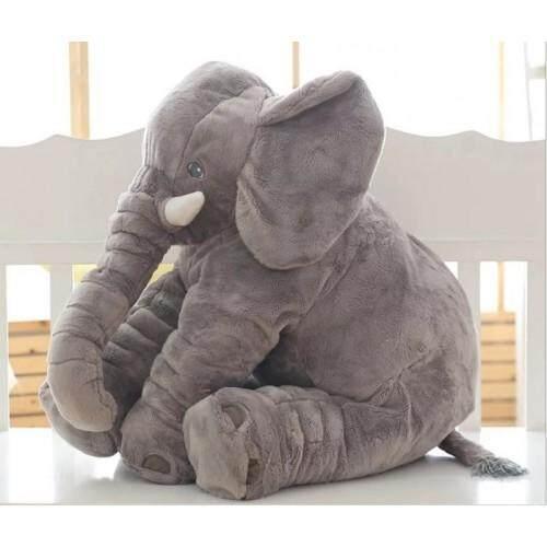 Cutie Elephant Plush Toy + Blanket Gray