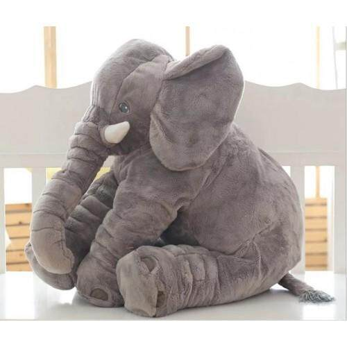 Cutie Elephant Plush Toy + Blanket Grey
