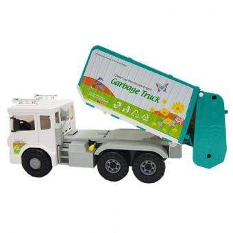 Daesung Door op-enable Friction toys Models Garbage Truck 36 * 13 * 16 cm made in Korea Generic, Genuine , Authentic product