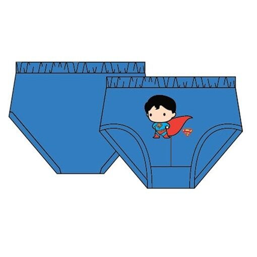 DC Comics Superman Boy's Briefs Set 100% Cotton 4yrs to 12yrs - Blue, Yellow And Grey Colour