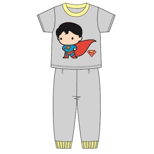 DC Comics Superman Casual Homewear 100% Cotton 4yrs to 12yrs - Grey Colour