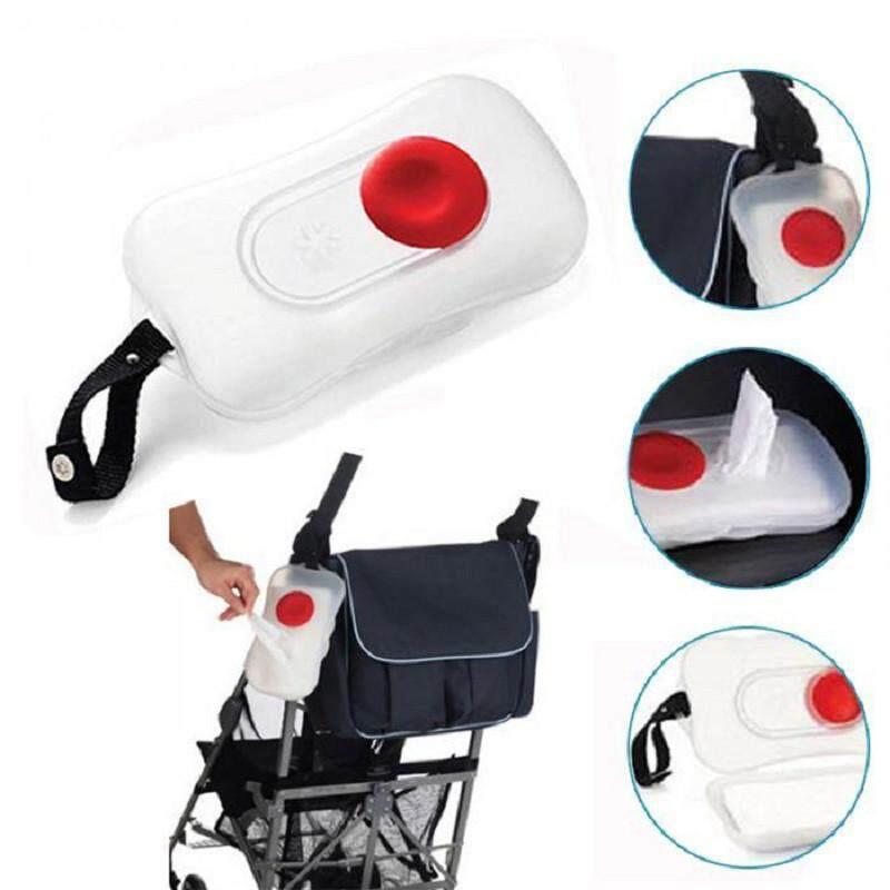 Diotem New Cute Baby Wipes Wipes Nyaman Transportasi Portabel Kotak Kursi Roda Di Luar Ruangan Kotak Transparan-Putih-Intl