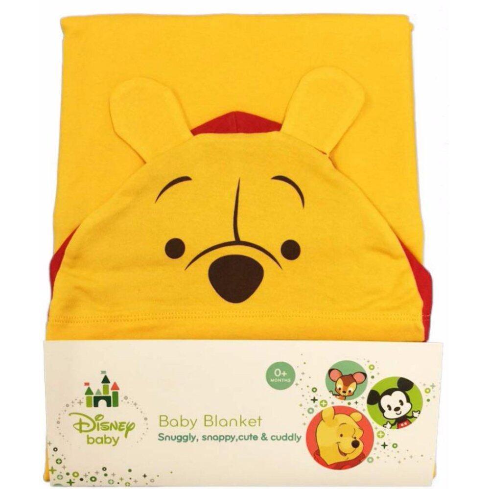 Disney Baby Cuties Hooded Blanket (Winnie The Pooh-Yellow)