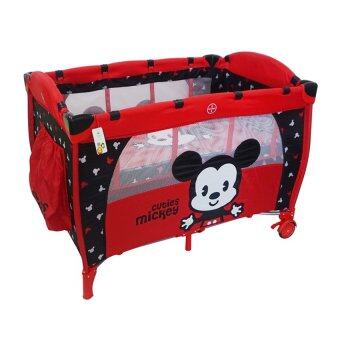 Harga Disney Cuties Baby Playpen - Red Colour