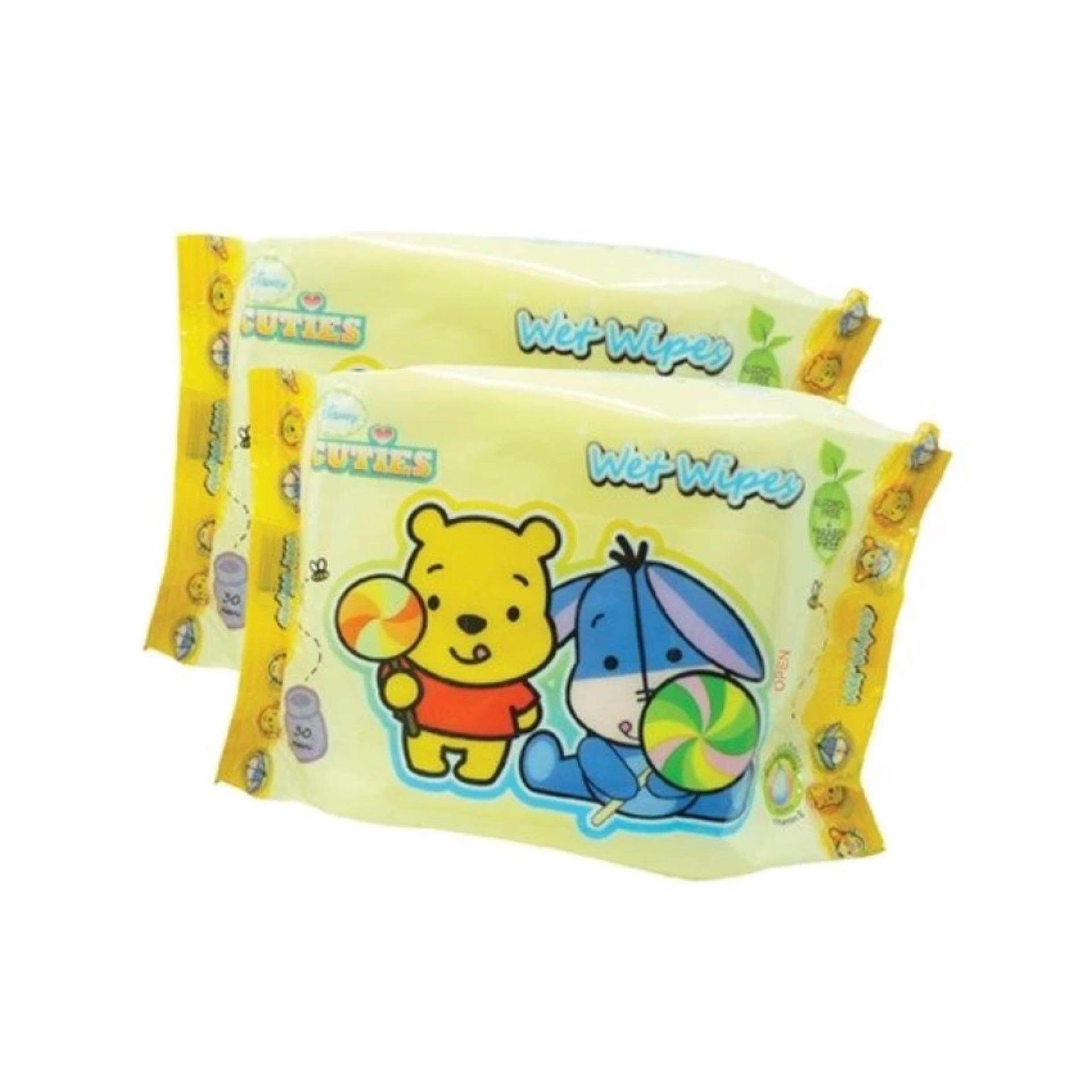 Disney Cuties Baby Wet Wipes Convenient Pack 10 x 30's Bundle Deals