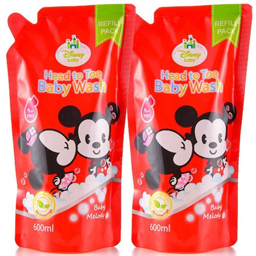 Disney Cuties Head To Toe Baby Wash Refill Pack 600ML Set - Baby Melody