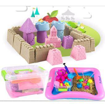 Harga DIY Kinetic Play Sand with colors 2KG (yellow)