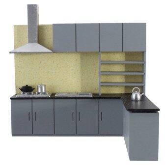 Rumah Boneka Seni Moderen Simulasi Dapur Cabinet Set Model Kitfurniture 1:25-Internasional