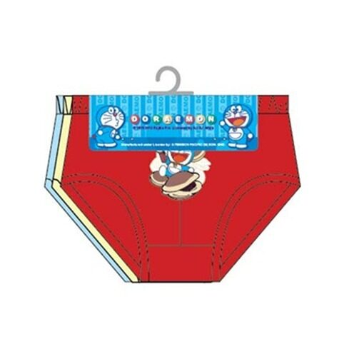 Doraemon Boy's Briefs Set 100% Cotton 4yrs to 12yrs - Red, Yellow And Blue Colour