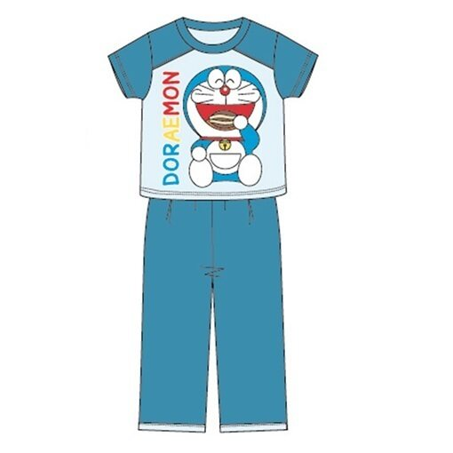 Doraemon Casual Homewear 100% Cotton 4yrs to 12yrs - Blue Colour