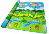 Double Sided Printed Toddler Crawling Mat With Educational Information (Animal world and Plant world)