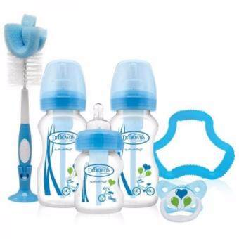 Harga Dr. Brown's Options - Wide Neck PP Bottles Gift Set (Blue)