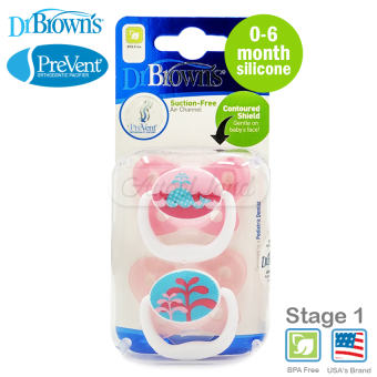 Harga Dr Brown?s PreVent Butterfly Soother 0-6m Pink (30175)