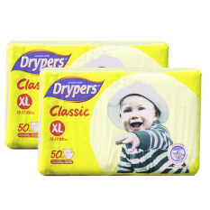 Drypers Classic Family Pack 12-17kg -XL50 2 pack