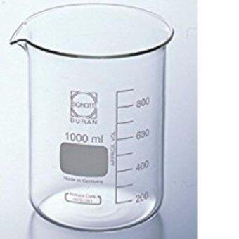 Harga DURAN 1000ml Glass Beaker Low Form With Spout Boiling FlaskLaboratory Glassware