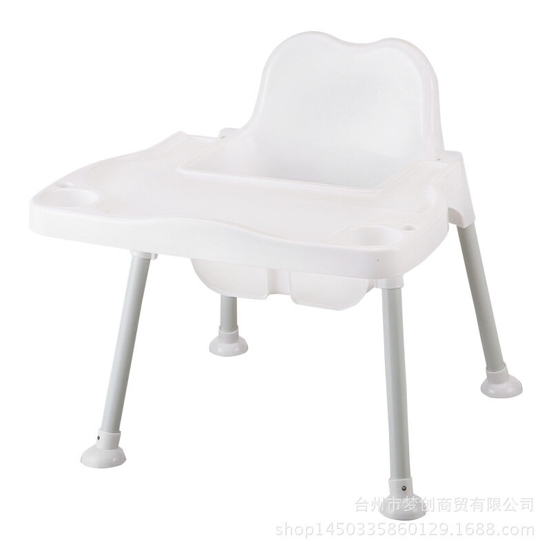 Dwarf Children's High Chair, Children's Dining Table Chairs, Children's Table Eating Table Baby Chair (white) - intl