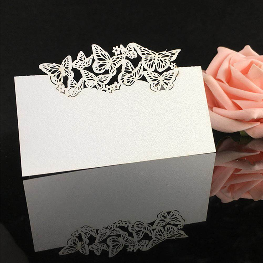 Eachgo 10pcs Creative Hollow-out Butterfly Wedding Table Tag Place Card Seat Card Holder Check