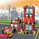Educational Building Block [300pcs Fire Fighter with Command Center] [Birthday Gift/Present/DIY]