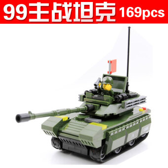 Harga ENLIGHTEN children's toys military assembled tiger-German armor