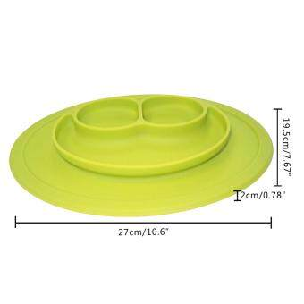 EsoGoal Baby Silicone Placemat Suction Plates One-Piece Feeding Dishes Bowl Oval Shape - 2