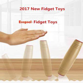 Harga EsoGoal Fidget Spinner Amazing Desk Toy ,Fun Dimensional Sided Toys Rollver Toy Desktop Flip Toys Fidget Stick Relieve Stress, Wood