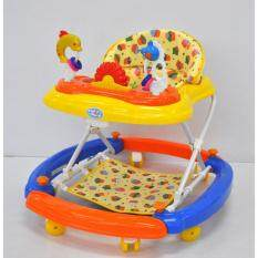 Fairworld Baby Walker With Stopper (blue/orange)