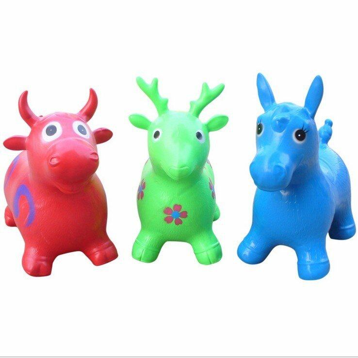 Hình ảnh Fancytoy Kids Indoors Toy Cute Inflatable Jumping Animal Horse/Deer Bouncing Hopping - intl