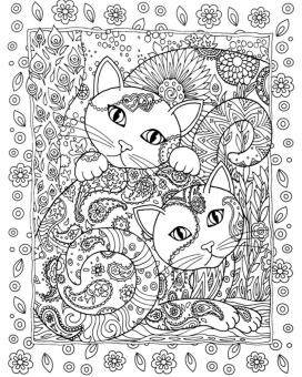 Fantastic Flower Creative Haven Cats Colouring Book For Adults Antistress Coloring Secret Garden Series