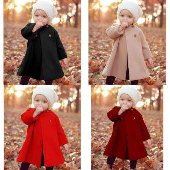 Cherished Gift Newest Button Jaket Warm Coat Outwear Cloak Winter Baby  Girls Autumn and Winter - e95c086b70