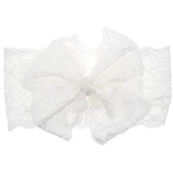 Fitur Fashion Girls Pearl Hair Band Baby Head Wrap Band Accessories