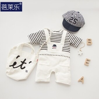 Female baby Siamese clothes summer baby summer men newborn children suit romper 0 short-sleeved 3 a month 6 Summer 1 Years Old
