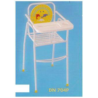 Foldable 3V Tall Baby Dining High Chair (White)