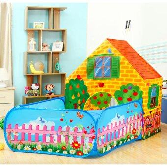 In Stock FREE 50 Balls Large Space Portable Kids Play Tent Secret Garden Playhouse Castle