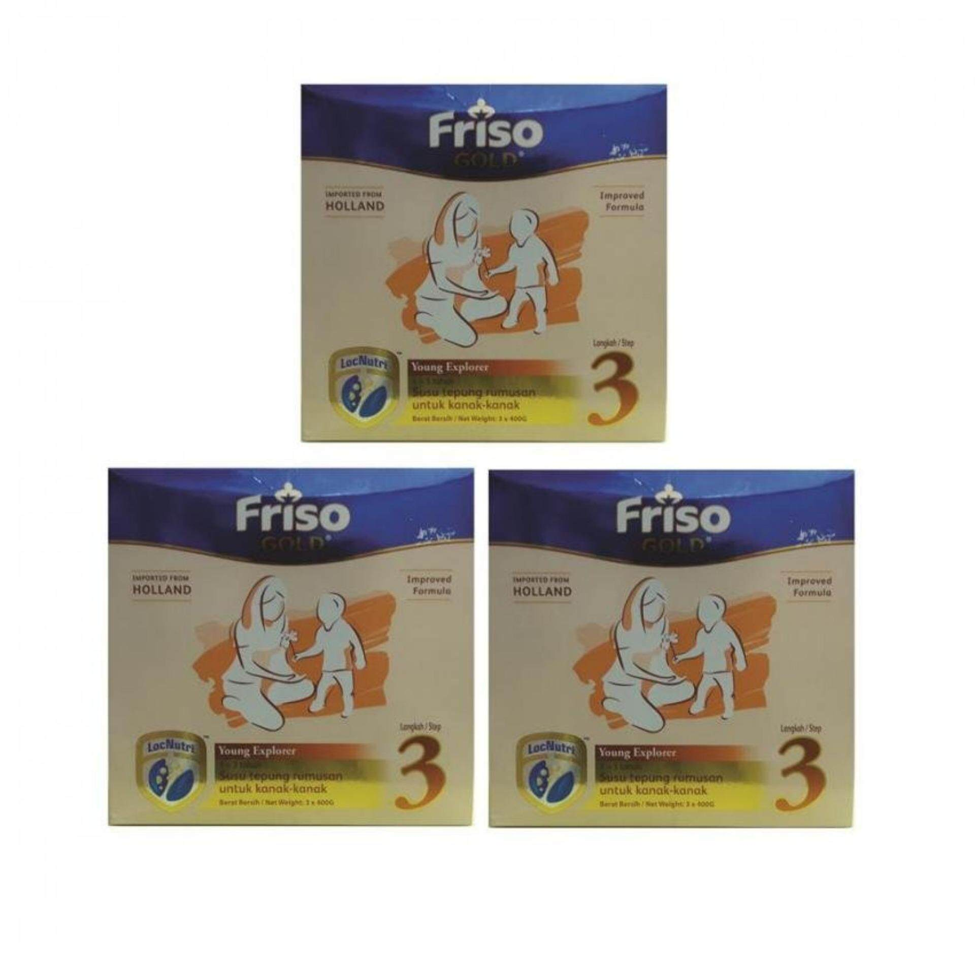 Friso Gold Step 3 (1.2kg) Refill Pack x 3box