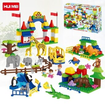Funny zoo building blocks