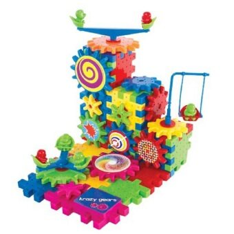 Harga Gear Building Toy Set - Interlocking Learning Blocks - MotorizedSpinning Gears - 81 Piece Plastic Kids Puzzle Electric BuildingBlocks Bricks Toys