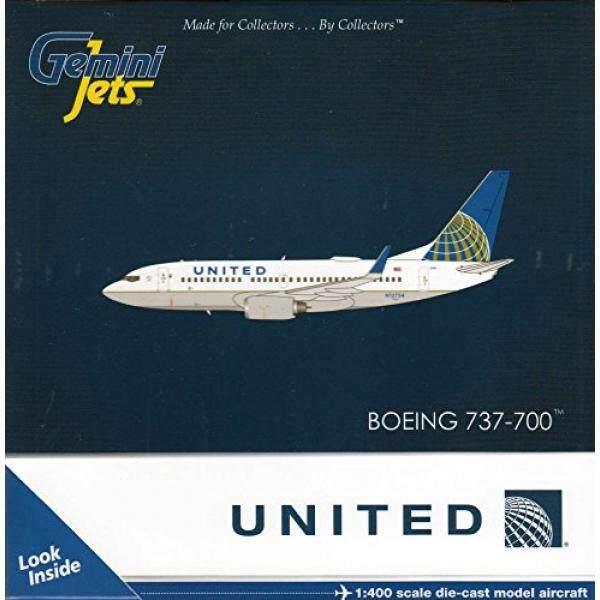 GEMGJ1601 1:400 Gemini Jets United Boeing 737-700 (W) REG # N12754 (Pra-painted/Dibangun Di)-Internasional