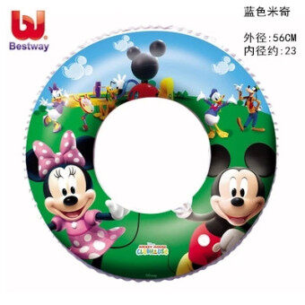 Genuine Qi Cai bei children baby swim ring Boonie Bears with handle swimming laps life buoy ring floating ring to send pump
