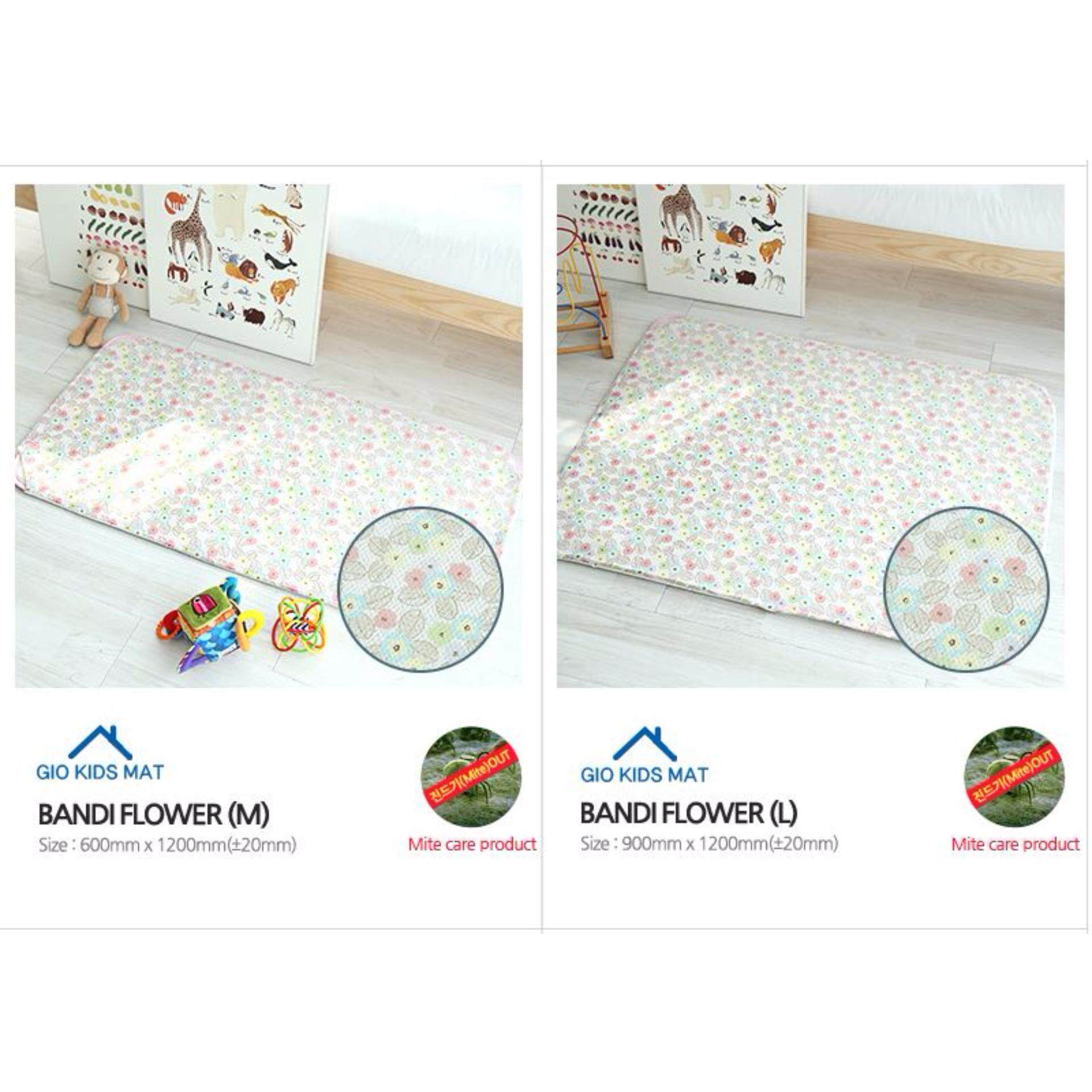 GIO KIDS MAT 2 in 1 Bandi Flower- L Size with Carrier Bag