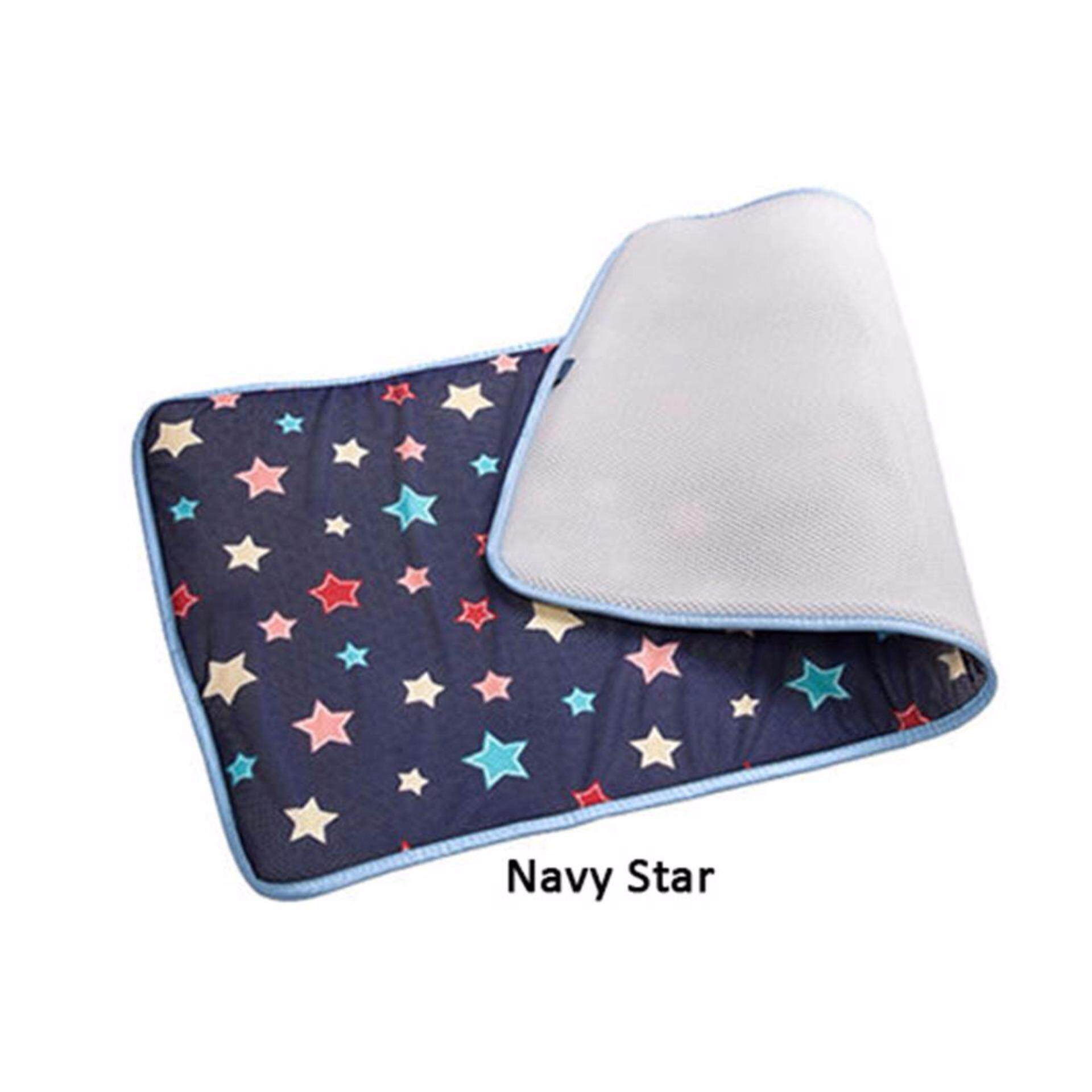 GIO KIDS MAT Single Side Navy Star M Size with Carrier Bag
