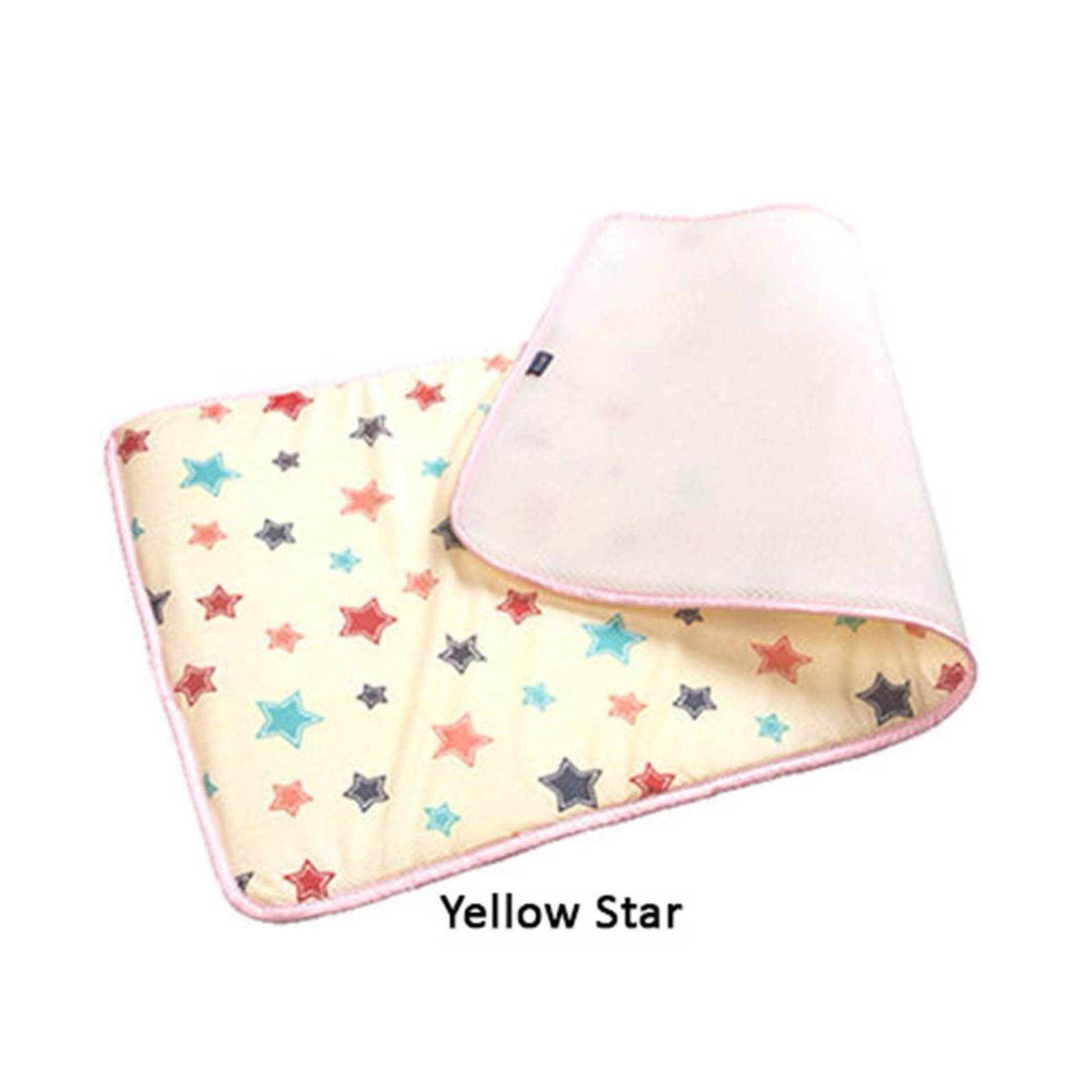 GIO KIDS MAT Single Side Yellow Star L Size with Carrier Bag