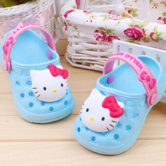 Girls slip breathable home soft-soled slippers hole shoes