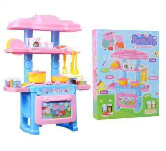 Good Service Kitchen Toys Pink Pretend Play House Toys Kitchen Cooking Simulation Model Happy Kitchen Toy