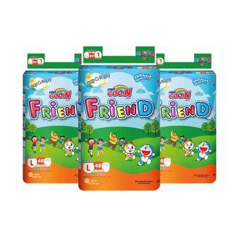 Harga GOON BABY DIAPER FRIEND PANTS L48 (3 PACKS)