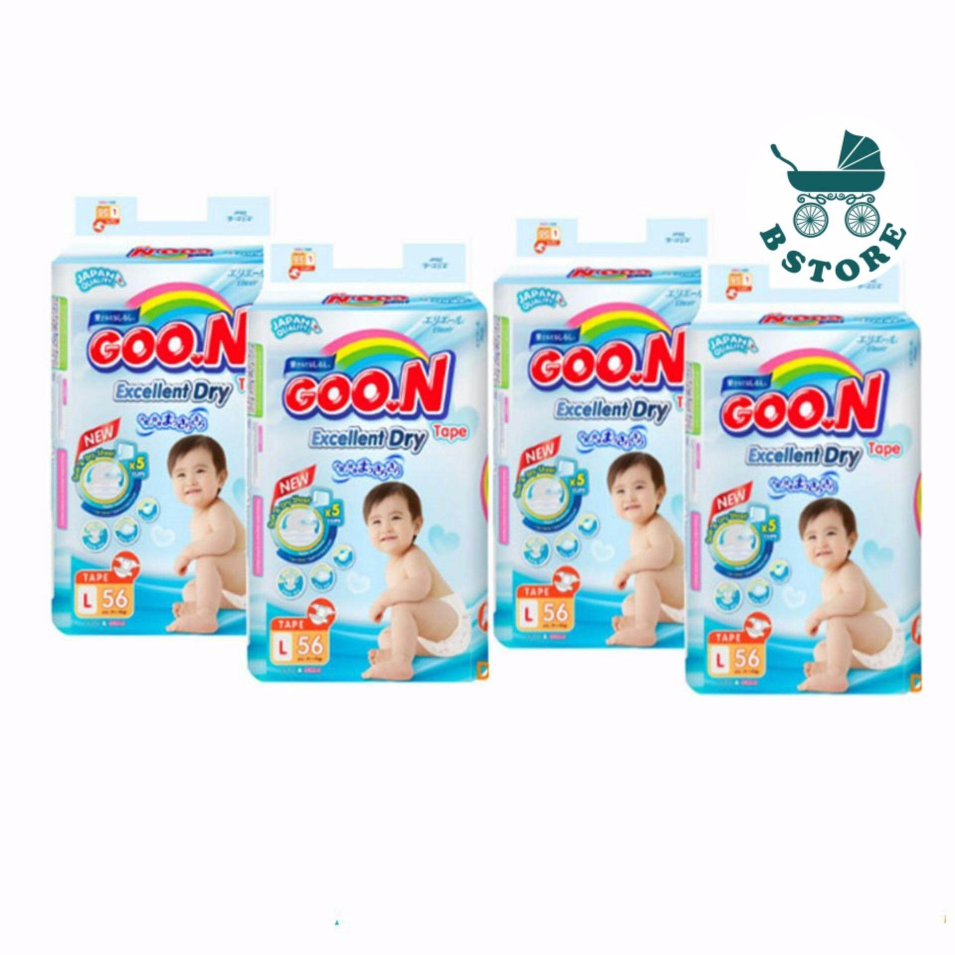Disposable Diapers By Goon Reviews Ratings And Best Price In Kl Excellent Dry Nb 48 Diaper Super Jumbo Tape L Size 4 Pack